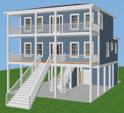 Carolina coastal designs inc bridgehampton iii project data for Coastal carolina home plans