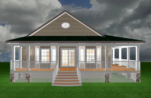 Single story home under 2500 sq ft del000225 carolina for House plans one story 2500 square feet