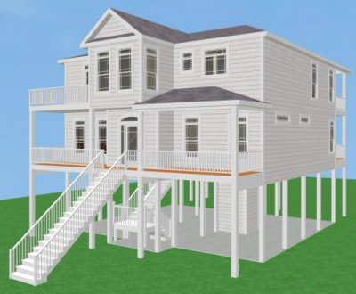 Carolina coastal designs inc long beach ii project data for Inverted beach house plans
